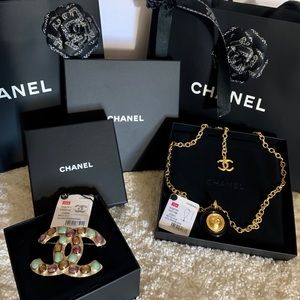 CHANEL Brooch and Necklace New in Box